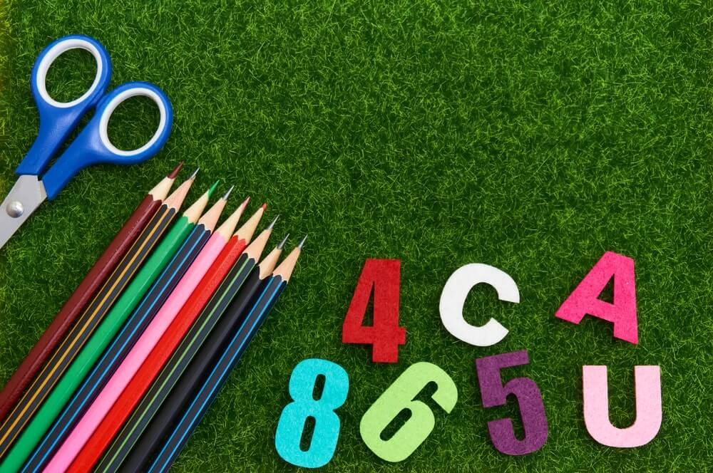 kids study area with artificial grass